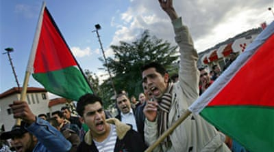 Angry Arabs protest in Israel