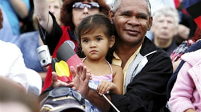 Australia says sorry to Aborigines