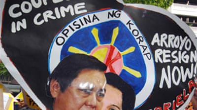 Rally in Manila condemns Arroyo