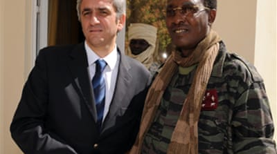 French defence minister in Chad