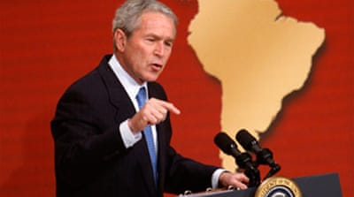 Bush lashes out at Chavez