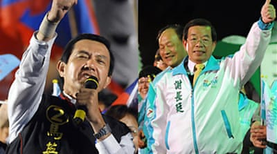 Taiwan candidates in final push