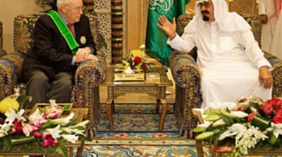 Cheney meets Saudi king