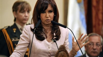Argentina leader condemns farmers