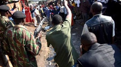 Kenya police break up sect protest