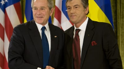 Bush backs Ukraine bid to join Nato