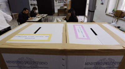 Voting under way in Italy elections