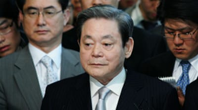 Samsung chief 'ashamed' by scandal