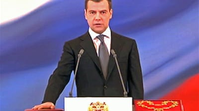 Medvedev is new Russian president
