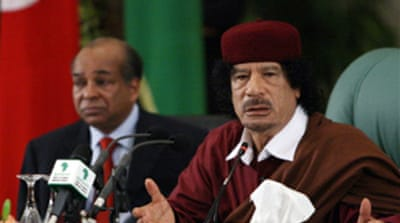 Gaddafi rejects Mediterranean bloc