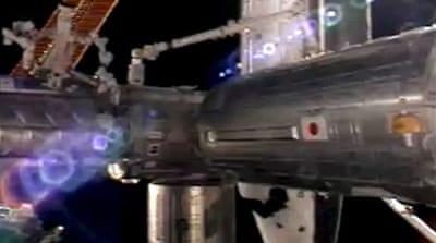 Space station installs Japanese lab