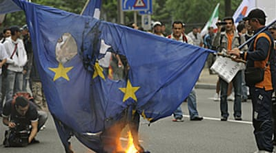 Violent fuel protests in Brussels