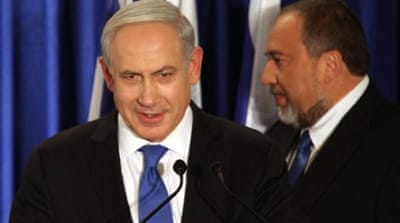 Netanyahu said that uniting the two parties 'would give us the power to protect Israel from external threats' [EPA]