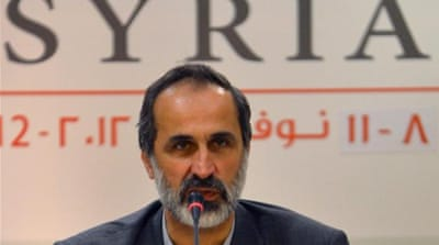 Jailed by Syria's government, Khatib will lead the newly established Syrian National Coalition [Reuters]