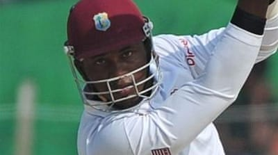 Bangladesh are up against it in second Test after Samuels drives Windies to a 177-run lead [AFP]