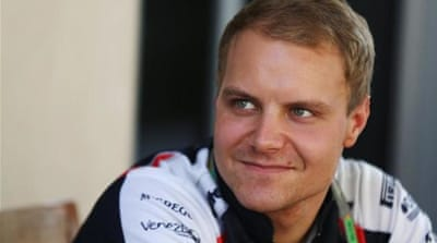 Valtteri Bottas (R) is set to make his F1 debut as lead driver in March after three years with Williams [AFP]