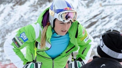Four time World Cup champion Vonn is allowed to be a forerunner but cannot compete against men [EPA]