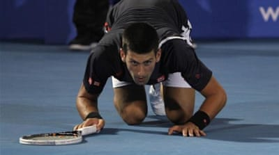 Serbian Novak Djokovic has been in superb form in Abu Dhabi ahead of first major in Australia [AFP]