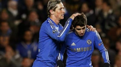 A great performance from Fernando Torres was not enough to see Chelsea progress to the last 16 [AP]