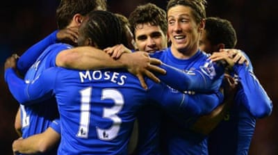 Back to his old self? Torres scored two goals including his first penalty in the Premier League [EPA]