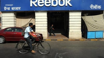 "Company announced this month plans to close one-third of Reebok India stores due to ""financial irregularities"" [AFP]"