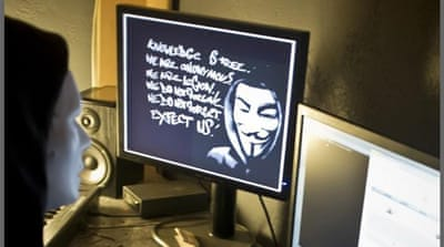 Anonymous' primary method of attack is through DDoS - Distributed Denial of Service [AFP]