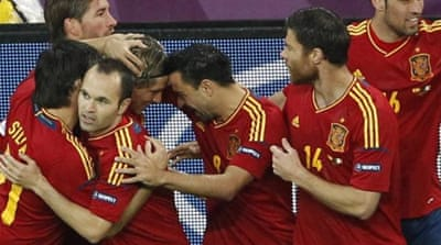 The Spanish ripped through the Irish defence with Fernando Torres twice on target [EPA]