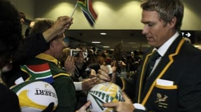 De Villiers (L) has been a crucial part of a successful South African rugby team [GALLO/GETTY]