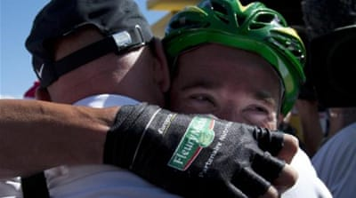 Voeckler enjoys victory of a gruelling stage 10 of Tour de France [AFP/GETTY]