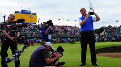 Ernie Els predicted 'something special' would happen at the Open and something did! [AFP]