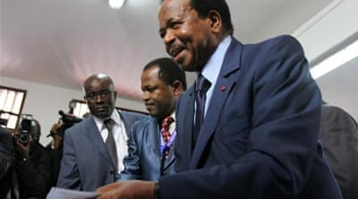 Paul Biya, who has been president of Cameroon for 29 years, has jailed many of his former deputies [Reuters]