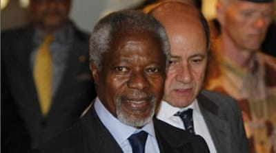 "Annan's visit comes after Clinton warned that time was running out to save Syria from ""catastrophic assault"" [EPA]"