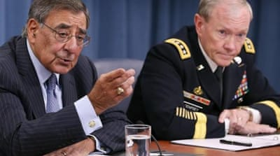 Panetta, left, says Iran's alleged intervention in Syria could aggravate the ongoing conflict [GALLO/GETTY]