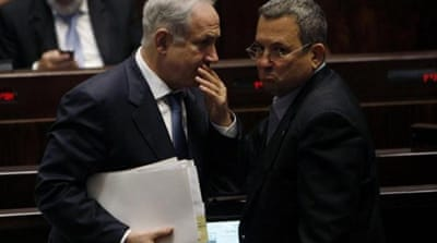 Israeli PM Benyamin Netanyahu and Defence Minister Ehud Barak hold the fate of millions in their hands [REUTERS]