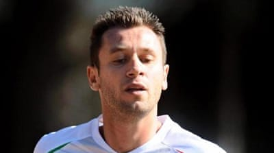 Antonio Cassano (L) and Giampaolo Pazzini played together for Sampdoria before heading to Milan [AP]