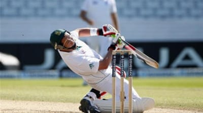 Pietersen (C) impresses with bat and ball during the second Test with South Africa [GETTY]