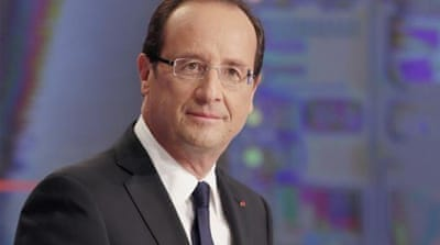 Hollande said a 75 per cent wealth tax on incomes over one million euros will not be diluted [AFP]