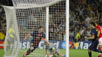 One goal is rarely enough these days for Lionel Messi who again helped Barca fight back [AP]