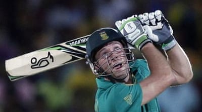 AB de Villiers hits 30 runs in match contested between two sides that have already made Super Eight stage [Reuters]