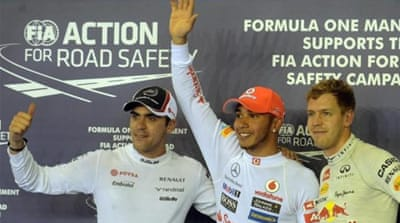 Hamilton is second in the drivers' world championship table - 37 points behind Ferrari driver Alonso [EPA]