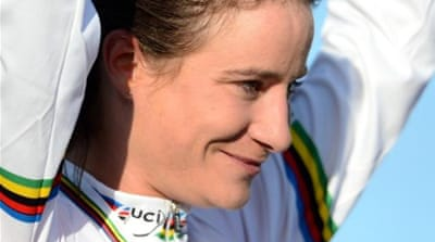 Vos completes an incredible year of injury and success with Women's Elite road race title [AFP]