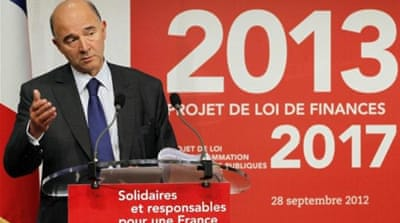 The second quarter of 2012 marked the third consecutive quarter of economic stagnation for France [EPA]