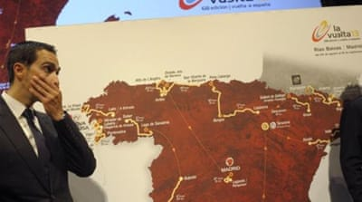 Is that fear in the eyes of Vuelta 2012's winner Alberto Contador as the 2013 route is unveiled? [AFP]