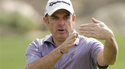 Tough act to follow: McGinley succeeds Olazabal who guided Europe to a sensational victory over America in 2012 [GETTY]
