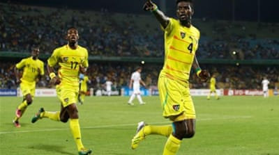 Emmanuel Adebayor (pictured) put Togo in lead before Dove Wome secured victory in an extra-long injury time [AP]