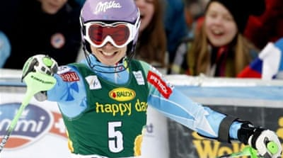Maze is one downhill win away from holding victories in all five disciplines this season [AP]