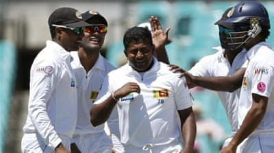 Herath claimed four wickets during third Test but his job is now to prevent a whitewash at the crease [GALLO/GETTY]