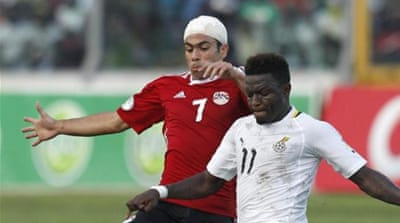 Fortress Kumasi lived up to its reputation as Michael Essien (C) and co powered six past Egypt [Reuters]