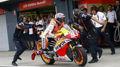 A botched lap-count by his team caused Marquez to be disqualified for not pitting at Philip Island [AP]