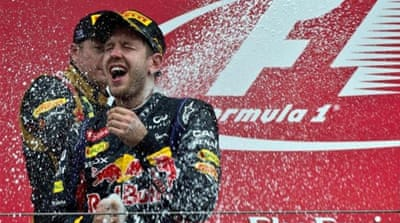 Vettel is looking to win his third straight Indian Grand Prix and his fourth consecutive F1 world title on Sunday [AP]